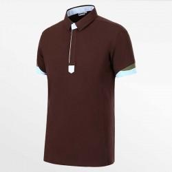 Herren Poloshirt braun von HCTUD von Micro-Modal Pique.