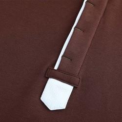 Poloshirt avec patte de boutonnage cachée ou boutons cachés de HCTUD.