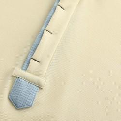 Gelbes Poloshirt mit versteckten Knöpfen von HCTUD.