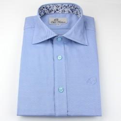 Shirt men light blue loose fit | Ollies Fashion
