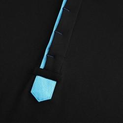 Polo homme noir et bleu avec boutons cachés de chez HCTUD.