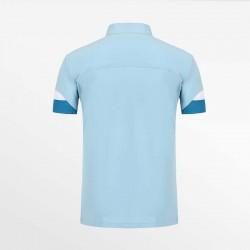 Poloshirt heren blauw met micro-modal pique. Van HCTUD