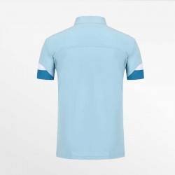 Polo shirt men blue with micro-modal pique. From HCTUD