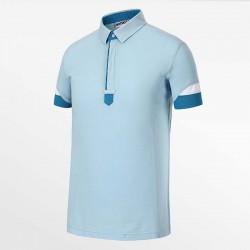 Polo homme bleu clair de HCTUD Micro-modal Tencel.