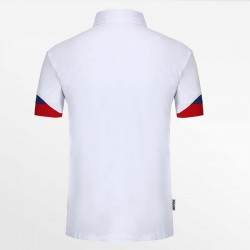 Polo shirt men white with micro-modal pique. From HCTUD