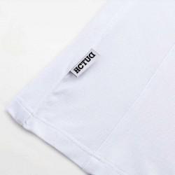 Weiß mit rot Poloshirt HCTUD. Robust, stilvoll und luxuriös.