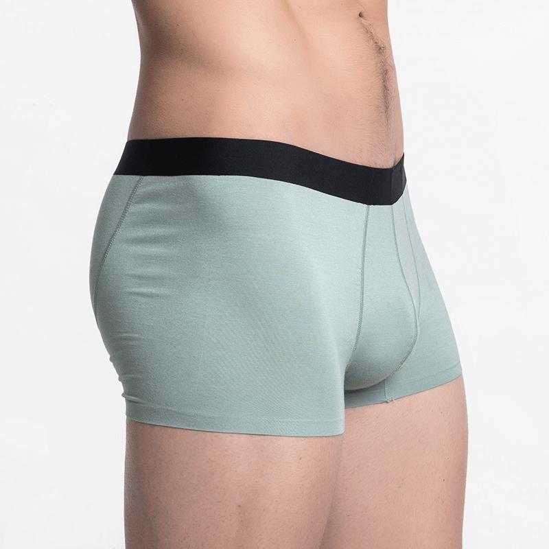 Short men's boxer shorts seamless green sustainable micromodal