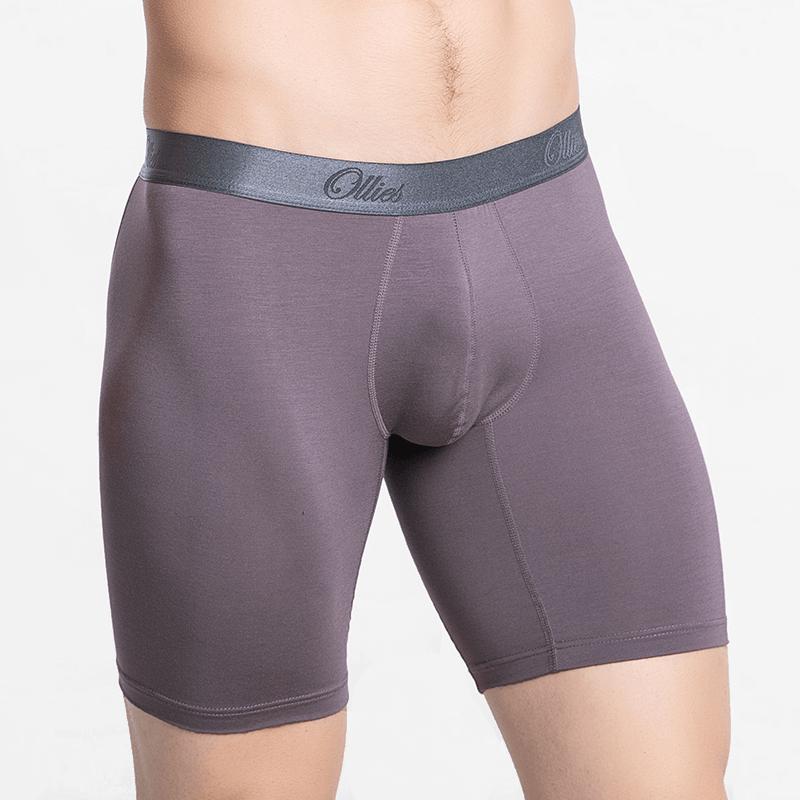 MicroModal boxer briefs men's underwear with long legs