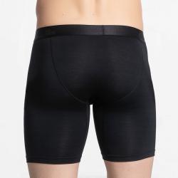 Heren premium zwarte boxershort lang pijpjes van duurzaam MicroModal