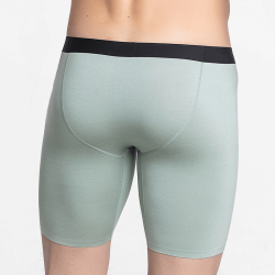 Green boxer briefs with long legs durable and comfortable
