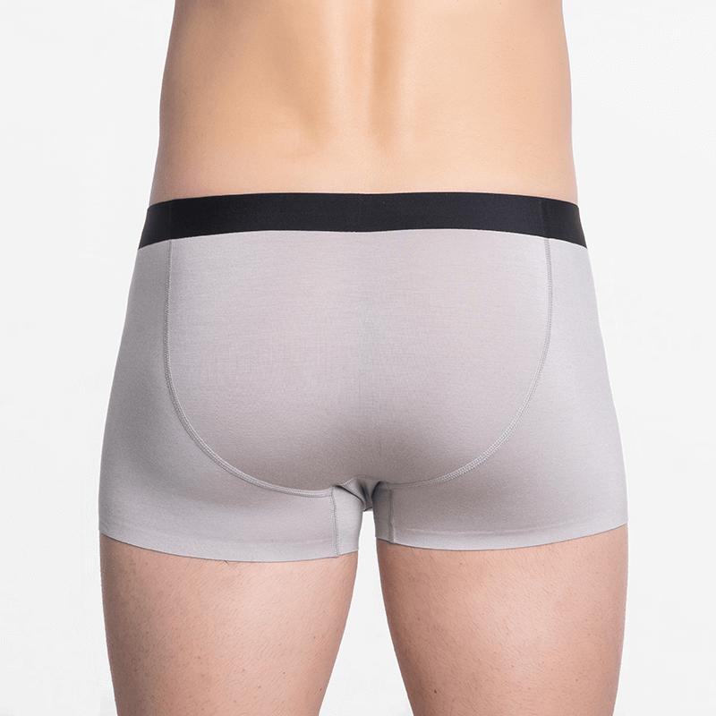Seamless men's underwear with short legs