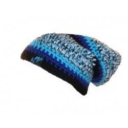 Beanie black blue white melange By MP