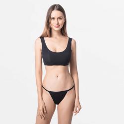 Tanga ladies G-string black fine for your skin Micromodal