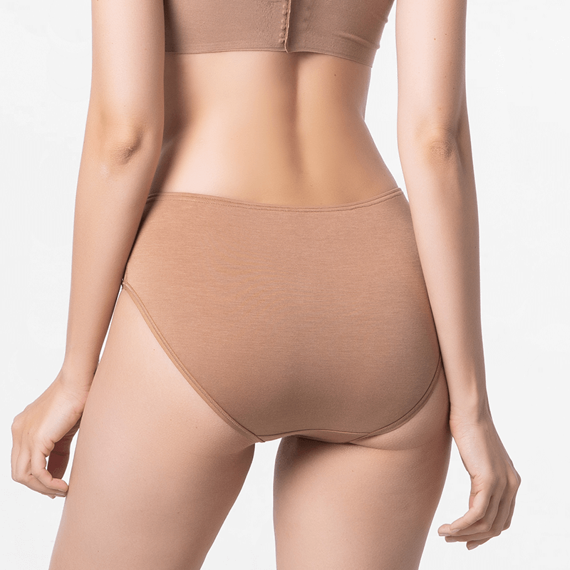 Ladies underwear brown with good fit and EU eco label