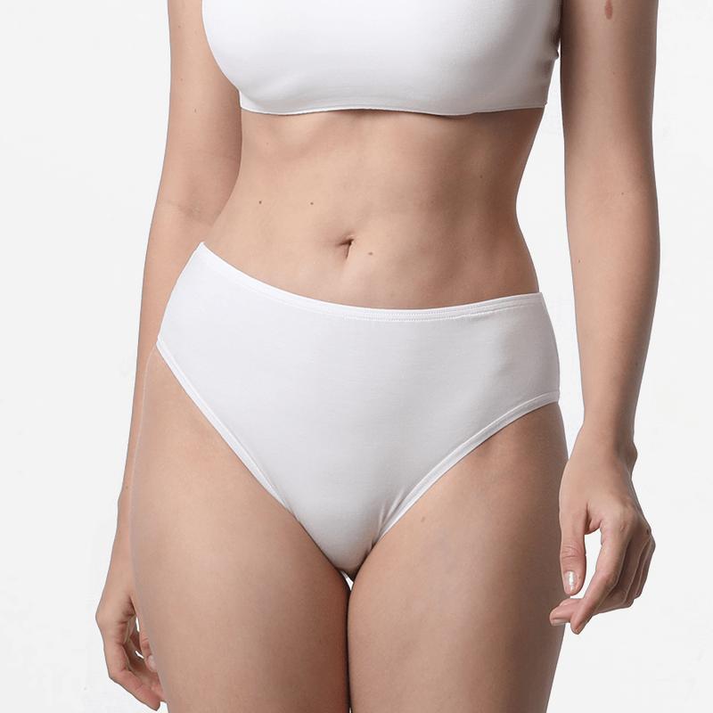 Ladies underwear slip cheeky ivory micromodal