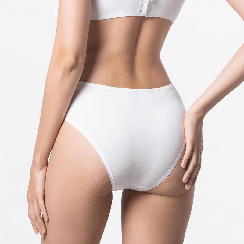Damen Unterwäsche Bikinislip Elfenbein Micromodal