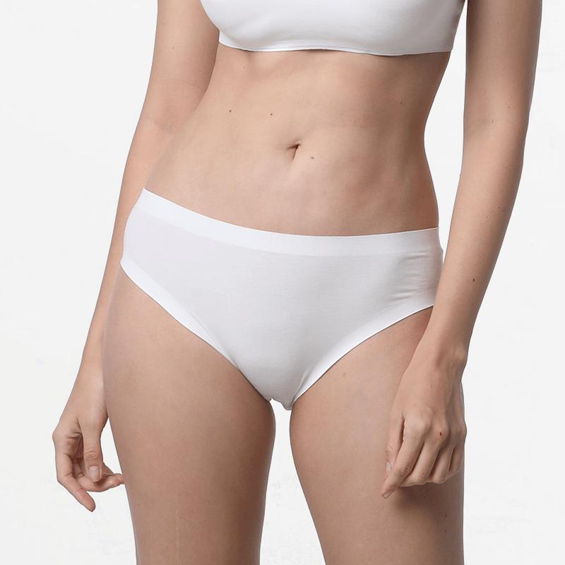 Nahtlose Damen Unterwäsche Slips cheeky Elfenbein nachhaltige Micromodal