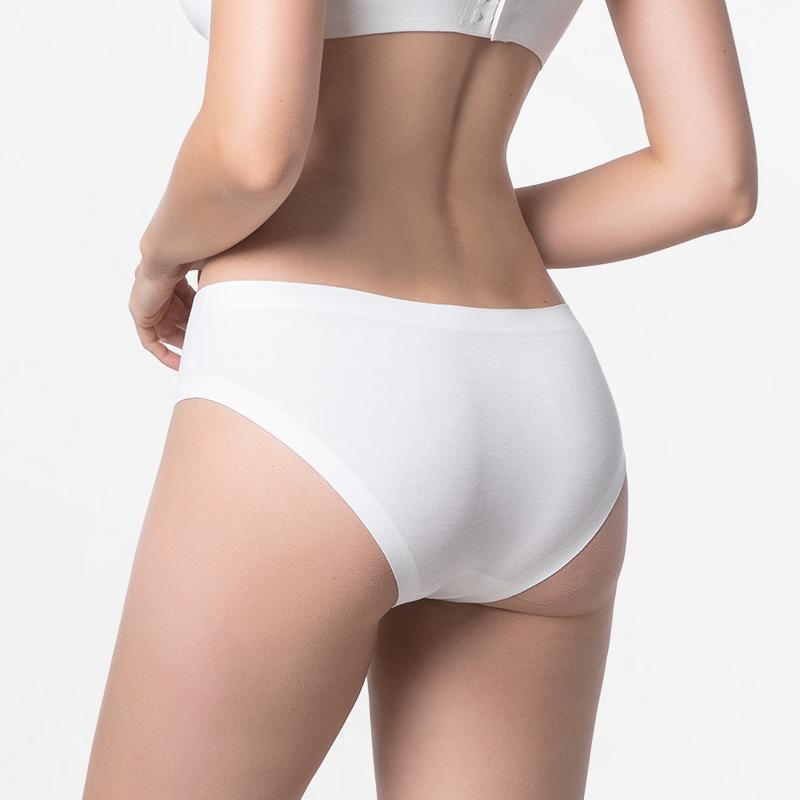 ivoire sans soudure sous-vêtements féminins avec des coutures plates