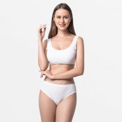Premium naadloos dames ondergoed slip ivoor met zijdezacht Modal