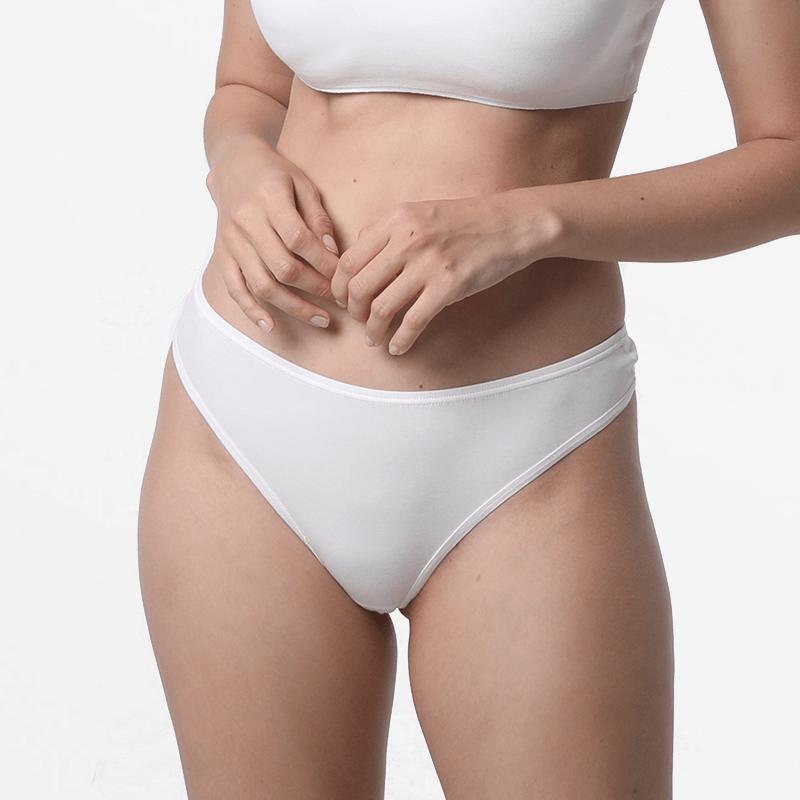 Women thong underwear anti transparent ivory