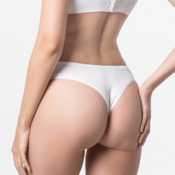 Women string underwear ivory with fine fit of Micromodal