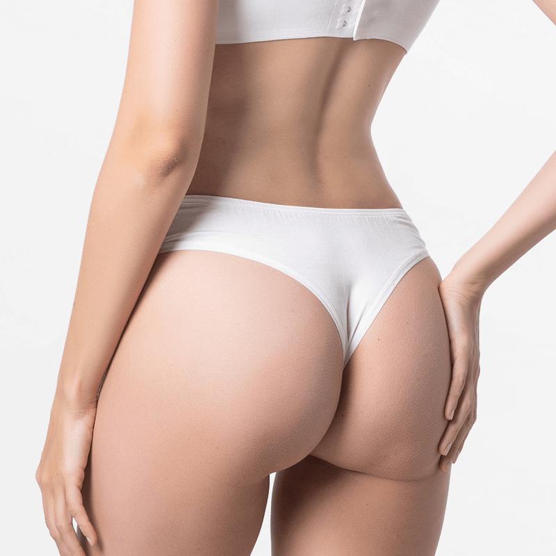 Les femmes sous-vêtements string ivoire avec belle forme de Micromodal