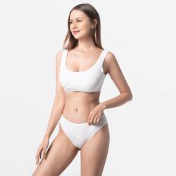Women Brazilian thong underwear ivory Micromodal