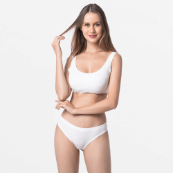 Ladies underwear string ivory seamless with super soft modal