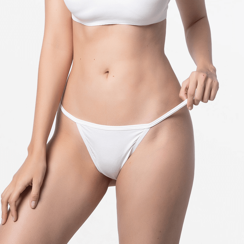 Ladies G-string underwear in the color ivory