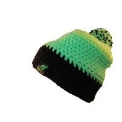 Beanie zwart mint geel By MP