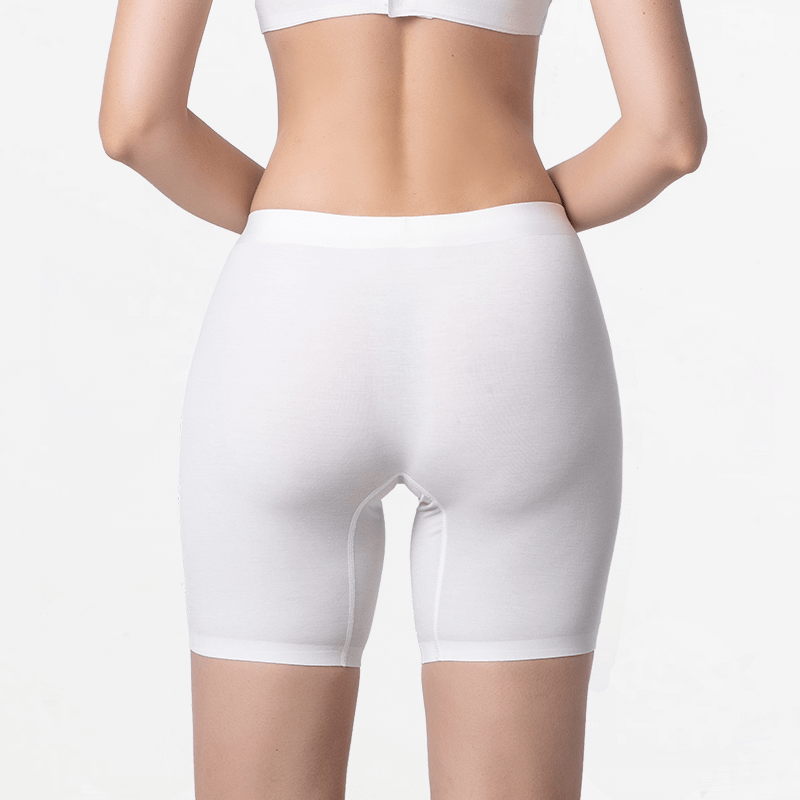 Ivory boxer panties with long legs