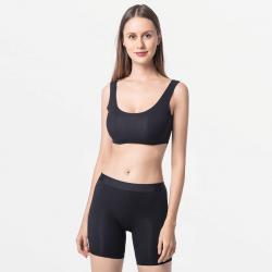 Black seamless ladies underwear with long legs