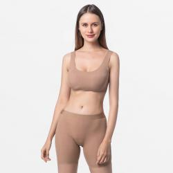 Seamless brown boxer shorts women's underwear