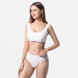 Premium ivoor dames ondergoed met vlakke naad