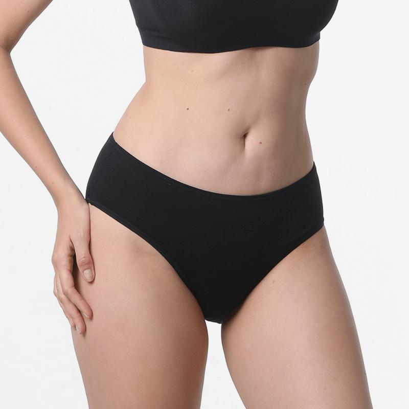 Schwarze Damen Slips Unterwäsche mit Micromodal