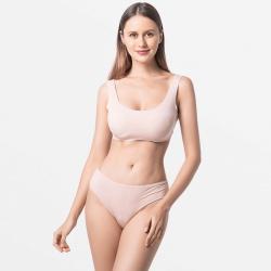 Beige Slips Damen Unterwäsche nachhaltige Modal