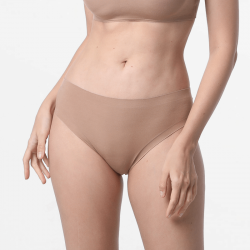 Seamless brown ladies underwear with good finishes