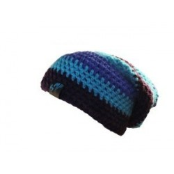 Beanie black light blue purple By MP