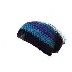 Bonnet noir bleu clair violet By MP