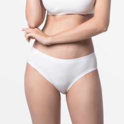 Seamless ivory ladies panties fine for your skin