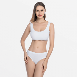 Seamless ivory ladies underwear good finish