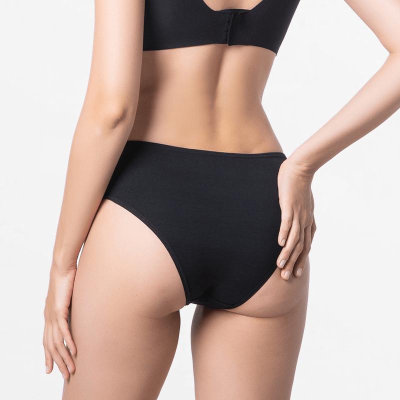 Cheeky black briefs ladies underwear good finish