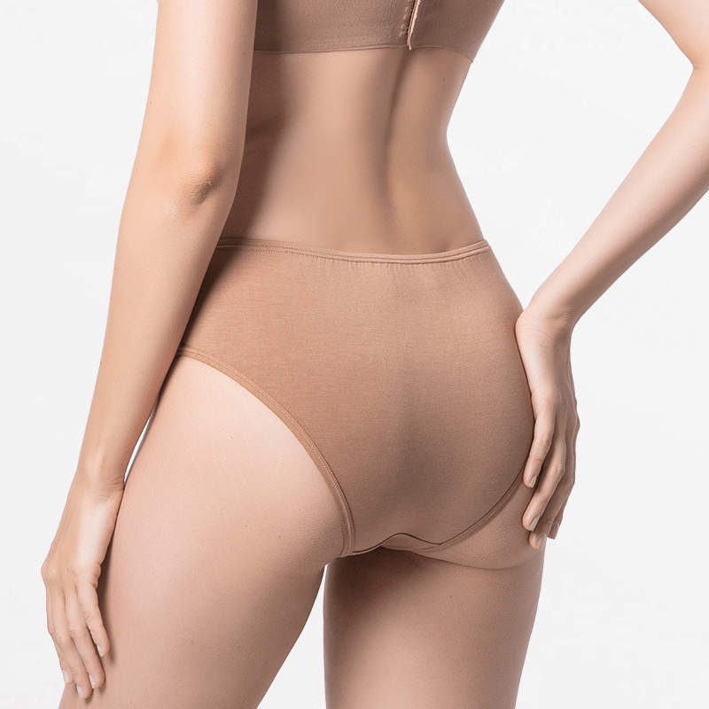 Cheeky brun glissement bekini de Micromodal Tencel durable