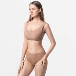 Cheeky brown ladies bekini slip durable Micro Modal Tencel