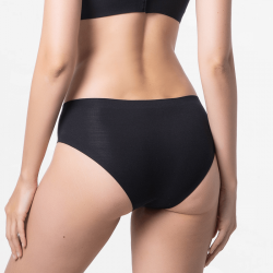 Black seamless ladies panties cheeky with good finishes