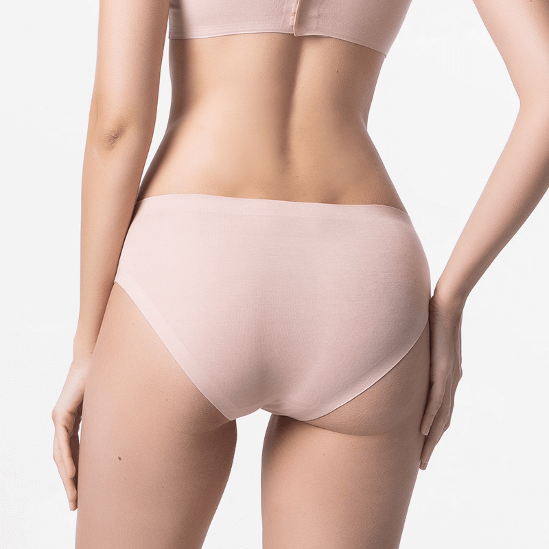 Seamless bikinislip beige with extremely soft Micromodal