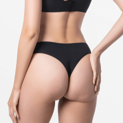 Brazilian black thong Micromodal with breathability