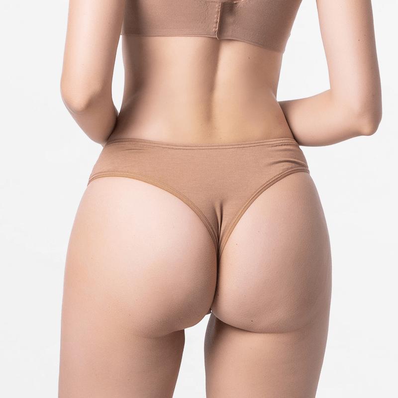 MicroModal chaîne dames brun string brésilien confortable