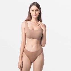 Brun sous-vêtements string féminin avec Micromodal