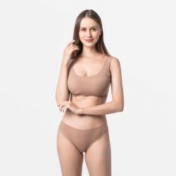 Brazilian women's thong seamless brown fine for your skin